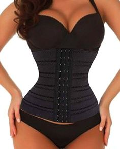 763114b5a06 Waist Trainer Corset for Weight Loss Sport Workout Shaper Tummy 4 Steel  Boned (M