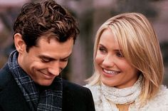 The Holiday with Cameron Diaz and Jude Law, Kate Winslet and Jack Black. Jude Law, Cameron Diaz, Kate Winslet, Love Movie, I Movie, Movies Showing, Movies And Tv Shows, Best Movie Couples, Movies To Watch List