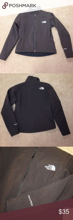 Soft shell North Face Jacket TNF Apex style softshell ladies North Face Jacket. Has been used but very good condition. Nothing wrong, just doesn't fit me. Dark brown (chocolate) color North Face Jackets & Coats Utility Jackets