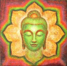 La peinture de Bouddha par Sue Halstenberg spirituelle impression d'art