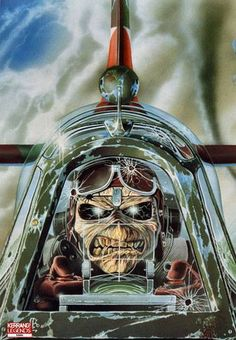 I always loved the Eddie art from Iron Maiden. Aces High was an amazing song about the Battle for Britain