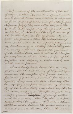 Emancipation Proclamation. Library of Congress.