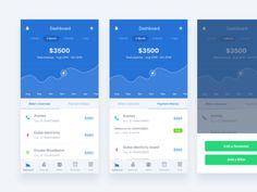Mobile UI Design Inspiration: Charts And Graphs (Check them out) Mobile Ui Design, App Ui Design, User Interface Design, Web Design, Card Ui, App Design Inspiration, Daily Inspiration, Graph Design, Simple App