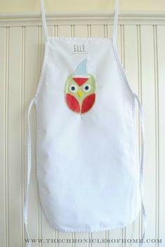 {DIY} Kids' Winter Owl Aprons   Children's Craft