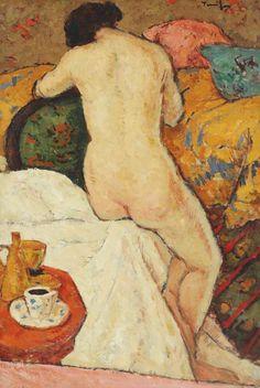 Nicolae Tonitza - In iatac Figure Painting, Painting & Drawing, Human Figure Drawing, Social Art, Post Impressionism, Greek Art, Colorful Paintings, Matisse, Erotic Art
