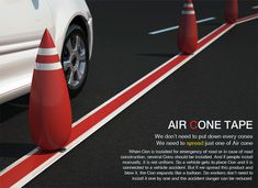 Air Cone – Road Cones by Hoyoung Lee, Youngwoo Park & Junkyo Lee » Yanko Design