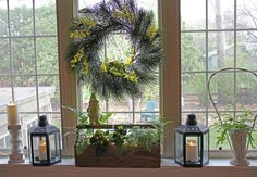 Woodland Spring Window Decorating