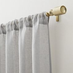 "Natural Linen Sheer 52""x84"" Curtain Panel 