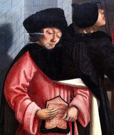 Faces of medieval men. Detail of the medieval painting The seven works of charity by the (so called) Master of Alkmaar (around 1500).     Tips and recours|es on love. learn more at www.soulmatesandfriends.com