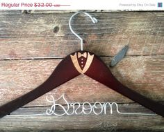 Groom Hanger Groom Wedding Hanger Bridal by GetHungUp