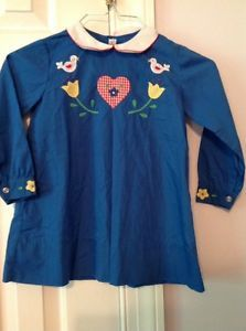Vintage Hand Made Imperial Girls Blue Dress | eBay