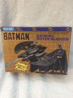Batman DC Comics Batwing Water Blaster 1989 Blue Box Vintage In Package