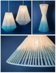 Dip-dye Strand Lighting from Janie Knitted Textiles