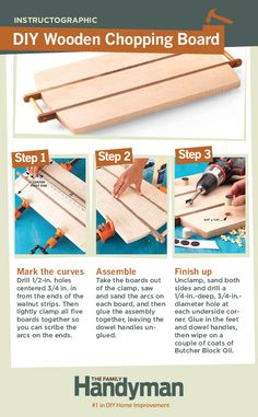 DIY Tutorial: How to Make a Wooden Chopping Board and Serving Tray. This is a great weekend project that you can start and finish in one day!