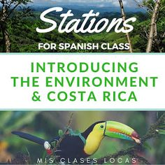 Stations: Medio Ambiente y Costa Rica Before reading the novel Robo en la noche by Kristy Placido , I wanted to introduce the environm. Learn Spanish Free, Learning Spanish For Kids, Spanish Teaching Resources, Spanish Activities, Teaching Ideas, Vocabulary Activities, Learning Italian, High School Spanish, Ap Spanish