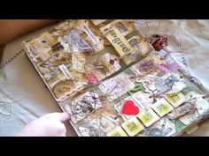 "Sharing Junk Journal Ideas"" Coffee Staining"" &  Tag Grids."