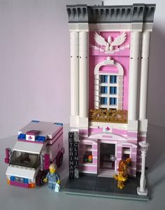 LEGO MOC-11447 Vet Clinic With Vet Ambulance (Modular Buildings 2016) | Rebrickable - Build with LEGO