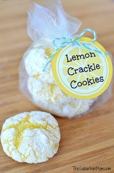 Easy Lemon Crinkle Cookies, Free Printable | TheSuburbanMom