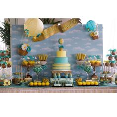 Up up and away Baby Shower Party Ideas | Photo 2 of 26 | Catch My Party