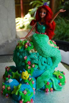 The Little Mermaid birthday cake- for Hannah's 5th birthday