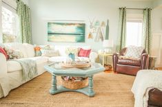 Your going to love this beautiful fall home tour full of fresh crisp colour at thehappyhousie.com-30