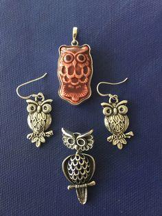 Pendants and Earrings Owls