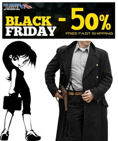Black Friday Big Discount Offer! Captain Jack Harkness Coat in Authentic Wool Fabric is available on NewAmericanJackets Store With Free worldwide Shipping.  #CaptainJack #Harkness #BlackFridaySale #realLeather #WinterSale #SalleOffer #maleFashion #jacket #Celebrity #Shopping #shopsmall #onlineshopping #colorability #everydaystyle #styleinspo #clothes #styleatanyage #Thanksgiving #megasale #newyearseve #menswear #CyberMonday #trustedseller #recommended