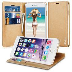 Vakoo iPhone 6 6s plus Tasche - [Bookstyle Series] iPhone 6 6s plus tasche [Premium Tasche] [Anti-Kratzer] [Kreditkarte Brieftasche] für Apple iPhone 6 6s plus 5.5 Zoll - Gold Vakoo http://www.amazon.de/dp/B01461FHW4/ref=cm_sw_r_pi_dp_U.aqwb1Q2J89H