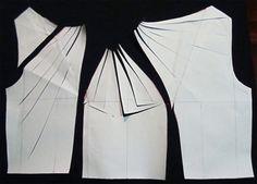 Twist top dress pattern drafting