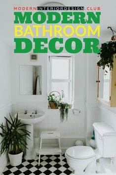 If there's a room that deserves a little luxury, it's the bathroom. Take a look at our favorite contemporary spaces that have a seriously ... * Click image for more details. Best Bathroom Plants, Green Bathroom Decor, Mold In Bathroom, Bathroom Hacks, Modern Bathroom Decor, Bathroom Cleaning, Bathroom Interior, Small Bathroom, White Bathroom