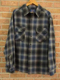 Pendleton Shirt 2X Wool Board Shirt Free Ship Next Day | Etsy Pendleton Shirts, Next Day, Purple Butterfly, Vintage Shirts, Priority Mail, Plaid, Ship, Wool, Sleeves