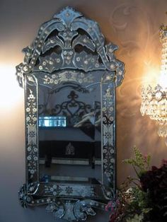 Art Deco Paris Apt Chic Intricate Venetian Glass Mirror Bathroom Vanity Mirror | eBay