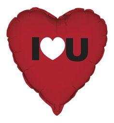 Heart I Heart You Foil Balloon 1/pkt