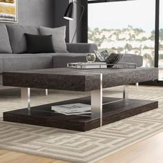 @ Daisytown Coffee Table By Wade Logan Pedestal Coffee Table, Coffee Table To Dining Table, Mirrored Coffee Tables, Coffee Table Wayfair, Lift Top Coffee Table, Coffee Table With Storage, Console Table, Living Room Furniture, Home Furniture