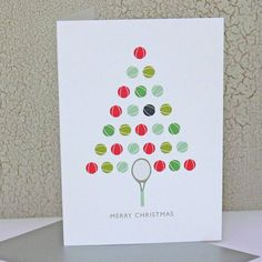 my friends don't be surprised if you see this from me...tennis ball christmas card by the sardine's whiskers | notonthehighstreet.com