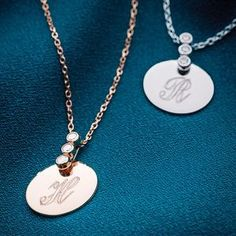 Personalised Precious Metal Necklace. Discover thoughtful, personal and wonderfully unique jewellery gifts for her this Christmas