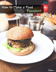 It's a list of restaurants you want to try all wrapped into cute little book known as a food passport!