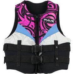 Rave Sport Women's Neo Life Vest, Small, Black, Multicolor
