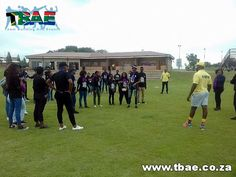 North West University Leadership Outcome Based team building event in Vaal Triangle, facilitated and coordinated by TBAE Team Building and Events North West University, Team Building Events, Leadership, Triangle, Soccer, Base, Sports, Hs Sports, Futbol