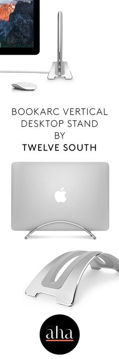 This beautiful new all-aluminum design frees up even more desk space. Slide your #MacBook into the silicone slot, connect it to an external display, add a full-size keyboard and mouse to enjoy the comfort of a desktop setup with your MacBook.