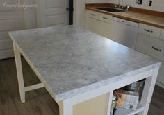 IKEA STENSTORP Kitchen Island Hack | Diamonds ain't got nothing on a beautiful piece of marble (in my ...