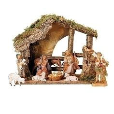 Meticulously crafted in an old-world style, this Roman Fontanini Nativity includes historically correct detailing. The set includes a moss-roofed wooden stable and handprinted figures. Christmas Nativity Set, Christmas Clay, Nativity Stable, Nativity Sets, Fontanini Nativity, Old World Style, Furniture For Small Spaces, Girls Furniture, All Toys