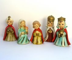 Vintage Nativity Scene Chalkware Korea MY by OurModernHistory, $45.00