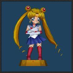 Chibi Sailor Moon Free Papercraft Download - http://www.papercraftsquare.com/chibi-sailor-moon-free-papercraft-download.html