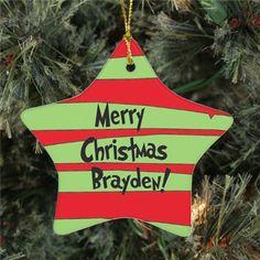 Star Christmas Ornament | Personalized Star Christmas Ornament