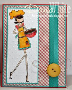 Uptown Girl Chanel the Chef card - image from Stamping Bella