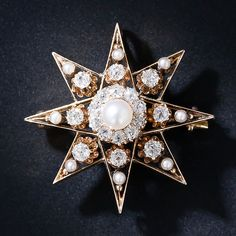 Victorian Star Pin - 50-1-4434 - Lang Antiques