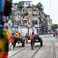 Kolkata , the city of joy.