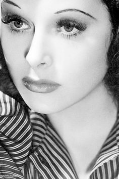 Very envious of Hedy Lamarr's eyelashes!