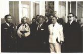El presidente de la Diputación, Rafael Cabello de Alba y Gracia en la inauguración del aeropuerto de Córdoba, 25 de mayo de 1958